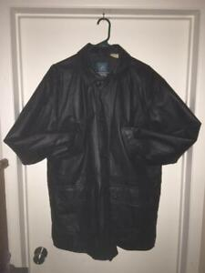 Mens Size Large (44T) Protocol Tall Leather Jacket
