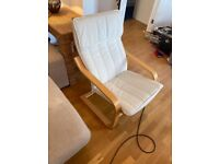 Armchairs- white and wood
