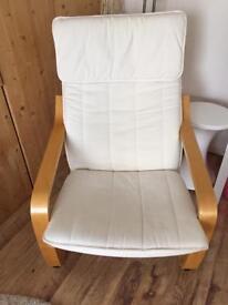 IKEA Chair cream and wood