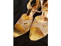 glam gold sandals