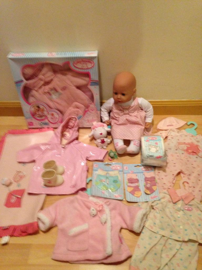 Baby Annabell and selection of clothes