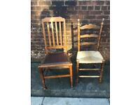 Free chairs for upcycling