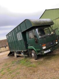 Horsebox J reg Ford Cargo