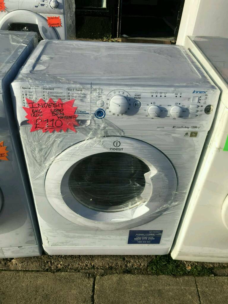 INDESIT 6KG 1200 SPIN WASHING MACHINE IN WHITE