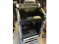 "Pro Dj 19"" rack mount tilt adjustable flight case"