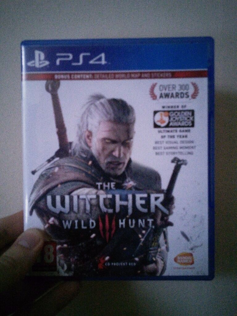Witcher 3 PS4 game, complete with stickers and map | in Hull, East ...