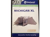 Outwell Michigan XL tent from the deluxe collection - sleeps up to 9 people