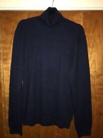 Turtleneck Jumper, Ted Baker, Men's - Navy Blue (unused) - Collection Only
