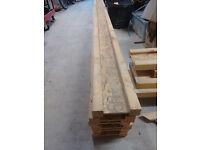 Engineered Timber Joists 45mm x 195mm x 5700mm - JJI Joists, 6 of . Plus additional JJI offcuts.
