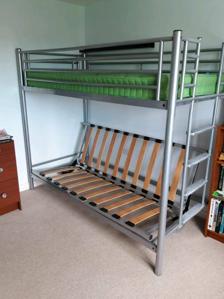 Stupendous Kids Triple Sleeper Single Bunk With Sofa Bed In Stroud Gloucestershire Gumtree Bralicious Painted Fabric Chair Ideas Braliciousco