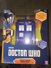 Dr Who talking money box 3x
