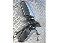 Pair of complete wing mirrors in silver vw polo mk4 2005-2009