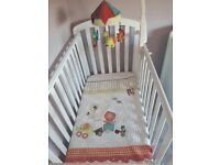 Mamas & Papas Cot mobile and matching coverlet (price reduced for quick sale)