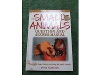 The Small Animals Question and Answer Manual, excellent condition