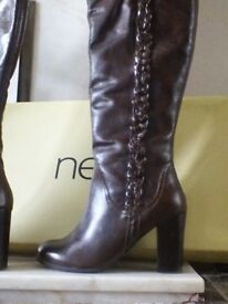 NEXT BROWN LEATHER BOOTS size 6