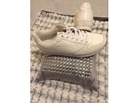 White leather H&M women trainers