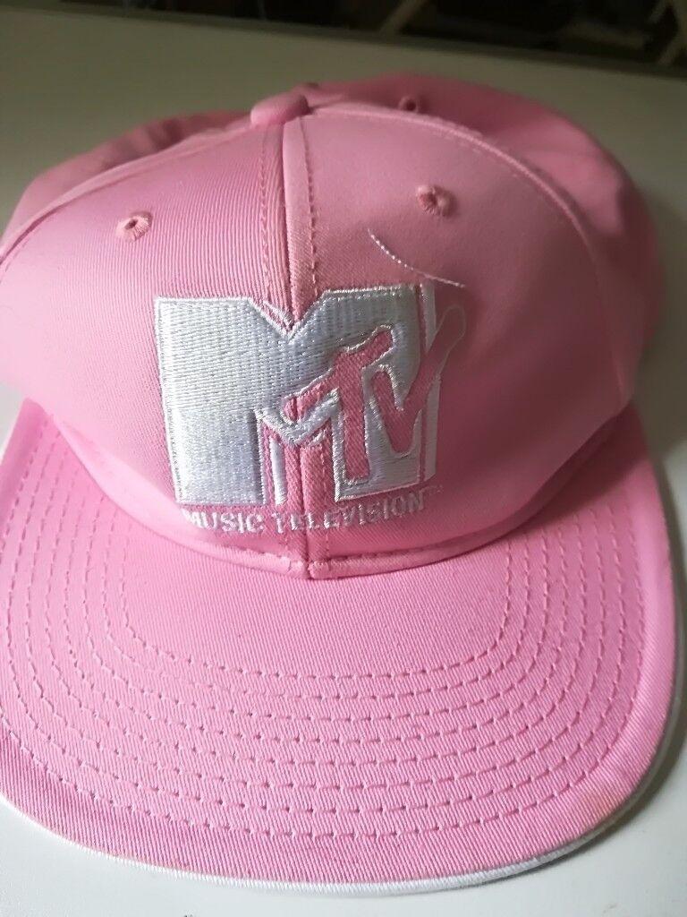 7fddf0302b7 Ladies Pink M.T.V Adjustable Baseball Hat