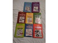 Bundle of 8 kids books Diary of a wimpy kid