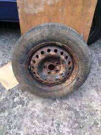 Vw Caravelle spare wheel and tyre