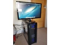"3GHz Quad-Core Desktop PC with Mac OSX + Full HD Samsung 23"" Monitor"