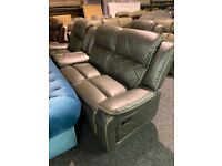 NEW beautiful leather 2/1/1 all recliner sofas