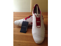 Armani Jeans White with Red Trim Men's Trainers (UK10/EU44) (never worn) JUST REDUCED