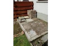 Bricks, few patio slabs and garden stone