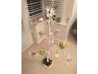 Wedding Centrepieces - 10 White Manzanita Trees (120cm tall) including decoration