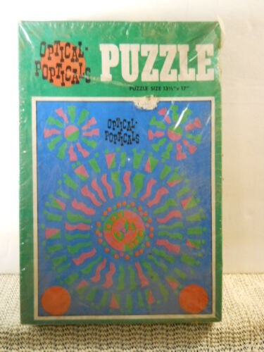 1970's Saalfield Optical-Popticals Optical Illusion Puzzle 100 Pc Factory Sealed