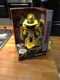 Transformers large bumblebee figure with lights and sounds new