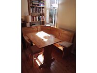 Austrian-style table / benches + chairs