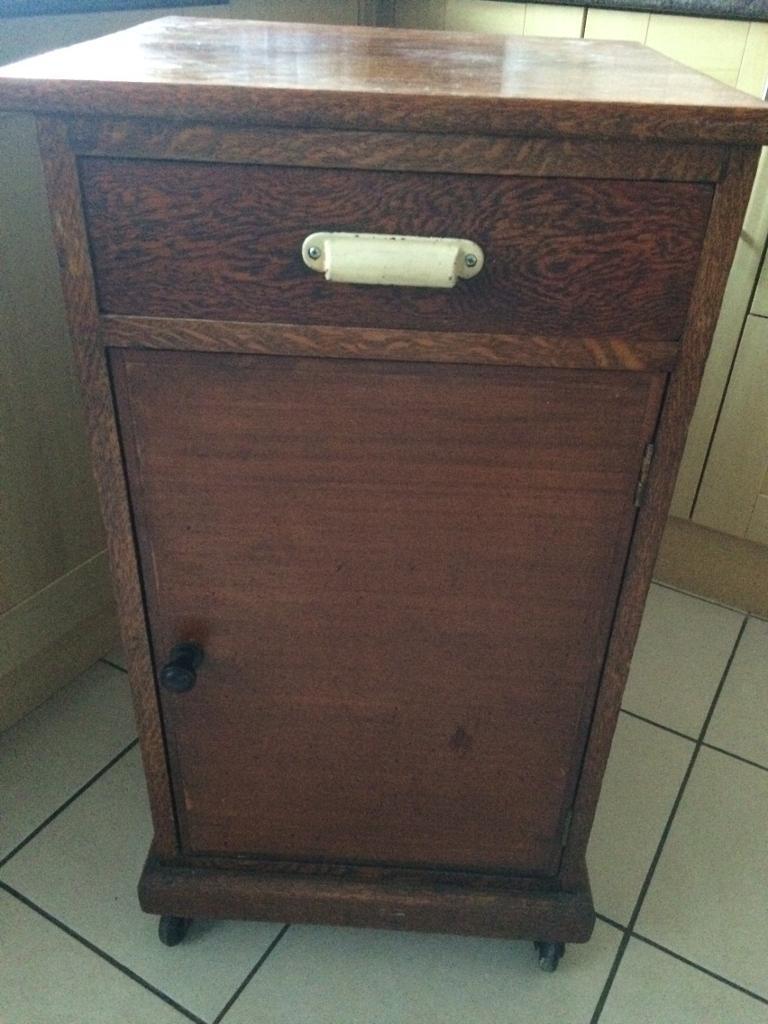 Vintage Retro Antique Hospital Cabinet Bedside Table
