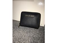 Michael Kors Purse Genuine, Black with Gold