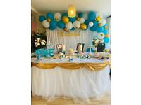 Birthday balloons, backdrop, dessert table decoration, baby shower decor in Hounslow