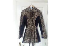 Raincoat - leopard print and black (never worn)