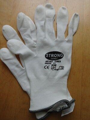 Beschichtete Arbeits-handschuhe (12 Arbeitshandschuhe Größe 11 /Fingerkuppen beschichtete/atmungsaktiv +1x Bonus)