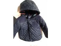 baby boy toddler John Lewis lightly padded jacket 12-18 months