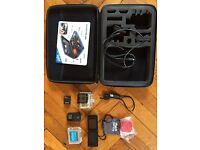 Gopro Hero 3 Black with remote, spare battery, LCD display, red filter and associated cables