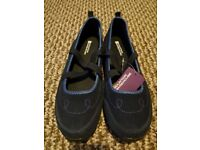 NEW - Mountain Warehouse memory foam shoes, navy blue, UK size 5