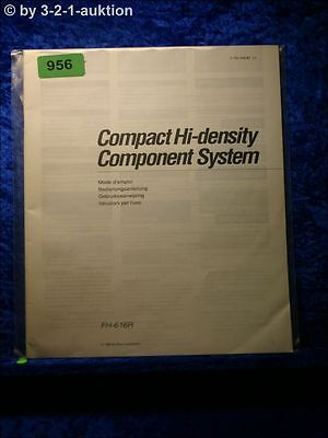 SONY BEDIENUNGSANLEITUNG FH 616R COMPONENT SYSTEM 0956