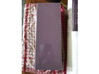 Purple tiles spare splash back diy
