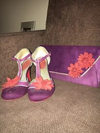 Women's ruby shoo shoes and bag size 6