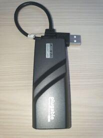USB 2.0 to Gigabit Ethernet Cat5 Network Adapter