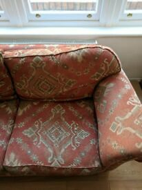 Large Sofa Comfortably seats 3, down cushions, upholstered