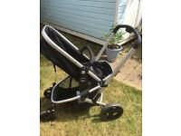 Mothercare Xpedior 4 wheel pram and car seat travel system