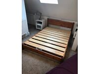 Semi double Solid wood bed frame