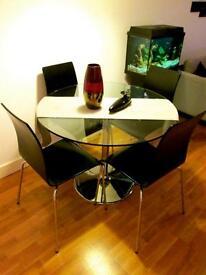 """FREE Stylish Set of 4 Dining Chairs, BLACK WORTH £100"""
