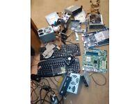 box of computer parts