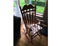 Vintage Pine Rocking Chair