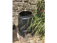 Three plastic compost bins - in need of emptying on collection but cheap price